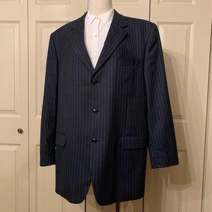 Jones New York Wool Gray Pinstripe Blazer 46L